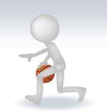 Basketball-Spieler des Menschen 3d Lizenzfreies Stockfoto