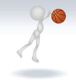 Basketball-Spieler des Menschen 3d Lizenzfreie Stockbilder