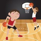 Basketball-Spieler-Karikatur Lizenzfreies Stockfoto