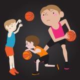 Basketball-Spieler-Karikatur Stockfotos