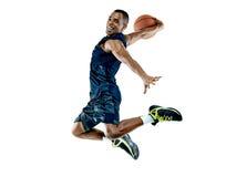 Basketball-Spieler-Mann lokalisiert Stockbild