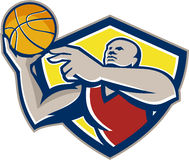 Basketball-Spieler-Speicherungs-Ball Retro- Lizenzfreie Stockbilder