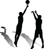 Basketball-Spieler-Vektor Lizenzfreies Stockbild