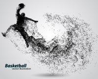 Basketball-Spieler von den Partikeln Lizenzfreie Stockbilder
