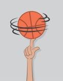 Basketball Spin Finger Royalty Free Stock Photos