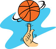 Basketball Spinning Royalty Free Stock Images