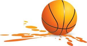 Basketball splat Royalty Free Stock Photography