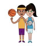 Basketball spor design Stock Photography