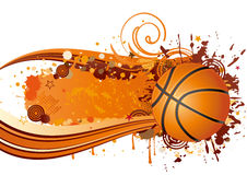 Basketball sport. Basketball design element and ink with wave Royalty Free Stock Photos