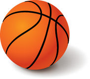 BASKETBALL - SPORT BALL 3d. Basketball on white background 3d with shadow Royalty Free Stock Photography