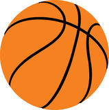 BASKETBALL - SPORT BALL. Basketball on white background - Vector Royalty Free Stock Images