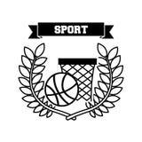 Basketball sport emblem icon Royalty Free Stock Photography