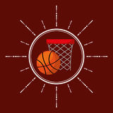 Basketball sport emblem icon Stock Images