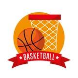 Basketball sport emblem icon Royalty Free Stock Photos