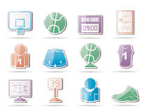 Basketball and sport icons Royalty Free Stock Images