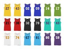 Basketball sport Jerseys Royalty Free Stock Photo