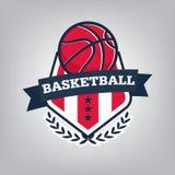 Basketball sport logo template design, vector illustration Stock Image