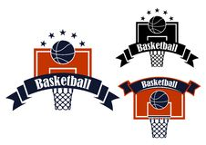 Basketball sporting symbols with sport items Royalty Free Stock Photo