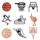 Basketball sports icons Stock Image