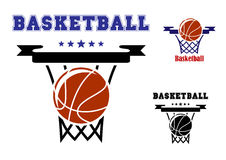 Basketball sports symbols Royalty Free Stock Images