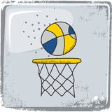 Basketball sports theme Royalty Free Stock Images