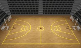 Basketball stadium, 3d. Basketball stadium,Basketball court, 3d render Royalty Free Stock Photography