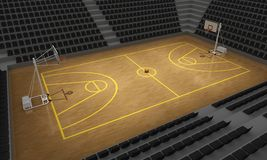 Basketball stadium Royalty Free Stock Images