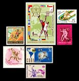 Basketball Stamps Series Stock Photo