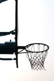 Basketball stand. Metal basketball stand with goal net Stock Image