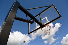 Basketball stand against sky Stock Images