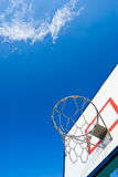 Basketball stands under blue sky Stock Photo