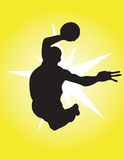 Basketball star. Silhouette, vector illustration vector illustration