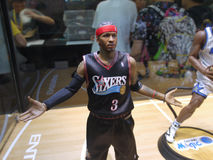 Basketball star Allen Iverson figure Stock Photos