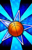 Basketball Star Burst Blue Stock Images