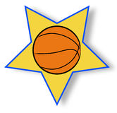 Basketball star icon Royalty Free Stock Photo