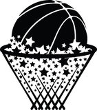 Basketball in Star Net Royalty Free Stock Image