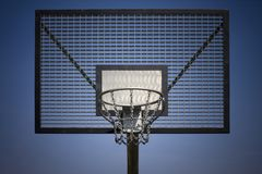Basketball steel backboard Royalty Free Stock Photos