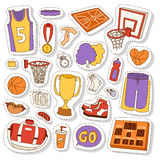 Basketball stickers icons vector. Stock Images