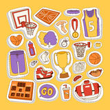 Basketball stickers vector icons Stock Photography