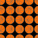 Basketball with stitching detail seamless pattern Royalty Free Stock Images