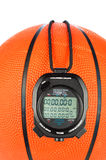 Basketball and stopwatch Stock Photography