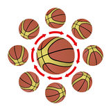 Basketball strategy vector illustration