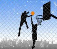 Basketball on the street vector illustration