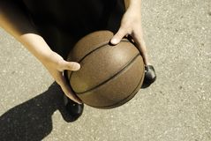 Basketball on the street Royalty Free Stock Image