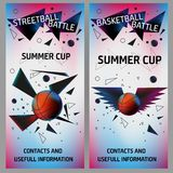 Basketball and streetball flyers Royalty Free Stock Photo