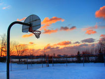 Basketball and sunset Stock Photos