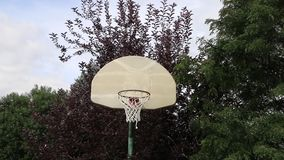 Basketball Swish Shot on an Outdoor Hoop 01 Royalty Free Stock Photography