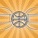 Vector basketball symbol Royalty Free Stock Images