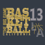 Basketball t-shirt graphic design Royalty Free Stock Photography