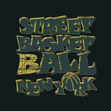 Basketball t-shirt graphic design. New York Stock Images